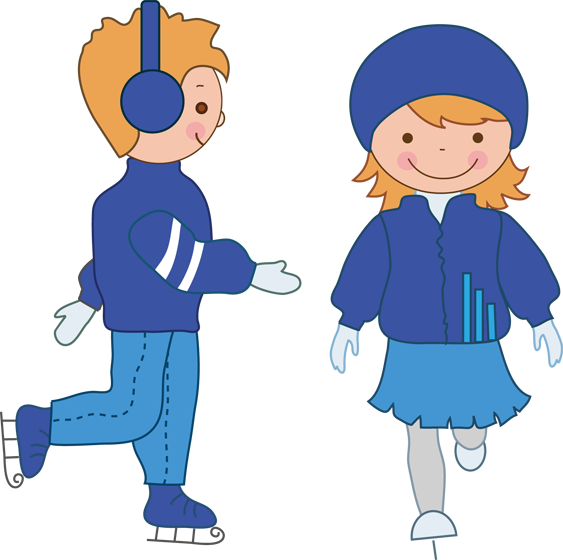 Boy Ice Skaters Png - Girl ice skating clipart png - Clip Art Library