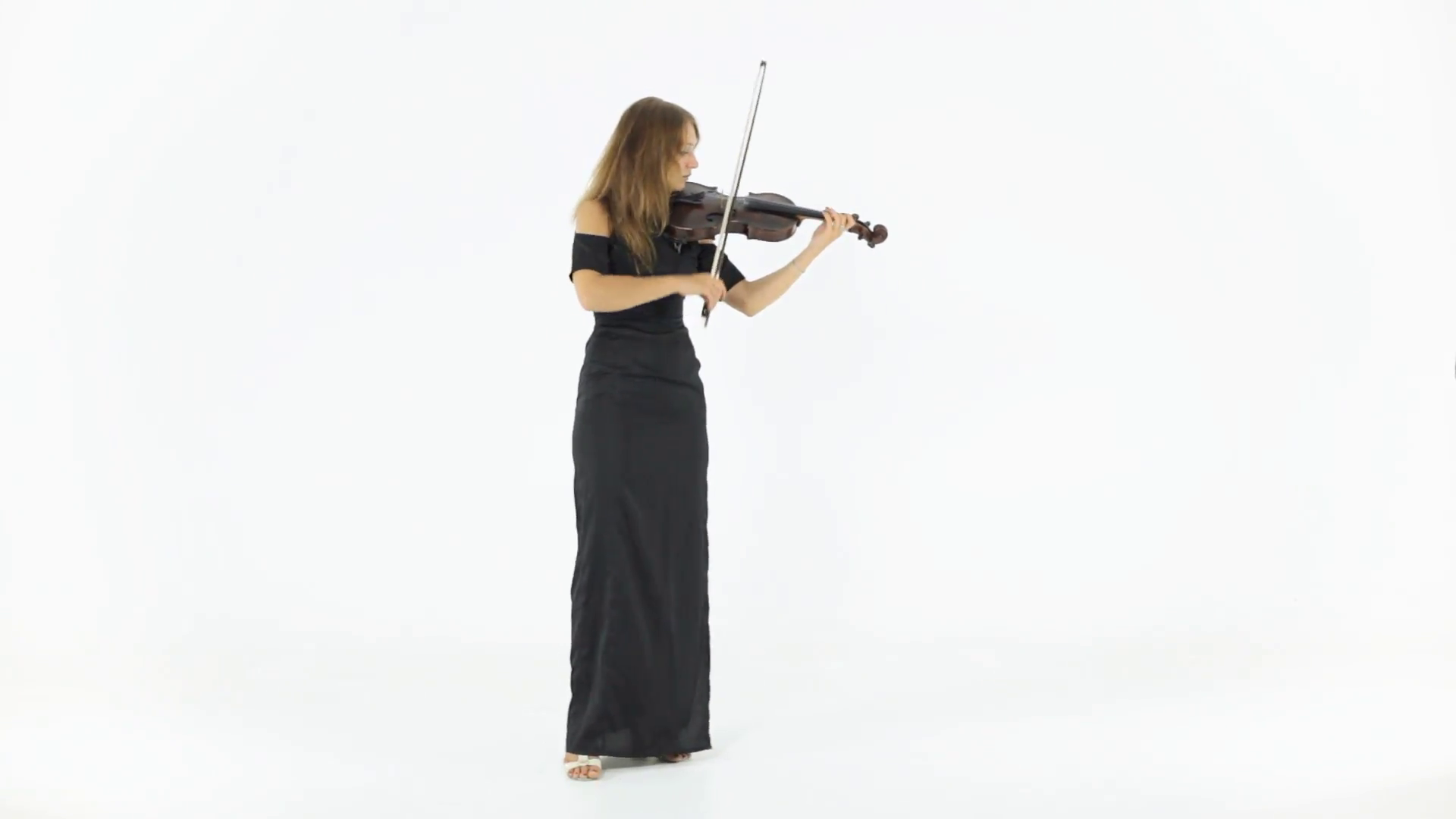 Cool Girl Violin Png - Girl in a long black dress playing the violin Stock Video Footage ...