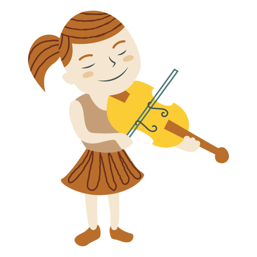 Cool Girl Violin Png - Girl playing violin - Transparent PNG & SVG vector