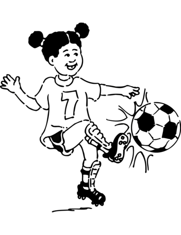 Girl Soccer Png Color Pages Free Girl Soccer Color Pages