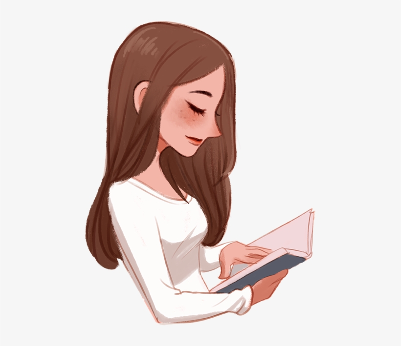 Girl Reading A Book Png - Girl Reading Book Png - Free Transparent PNG Download - PNGkey