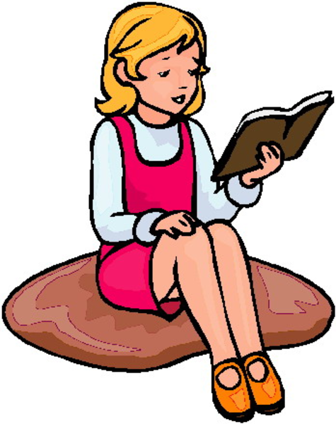 Girl Reading A Book Png - Girl Reading | Free Images at PNGio - vector clip art online ...