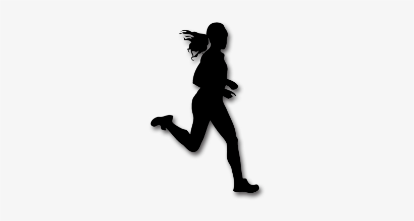 Png Of Girl Running - Girl Running Shadow Png - Free Transparent PNG Download - PNGkey