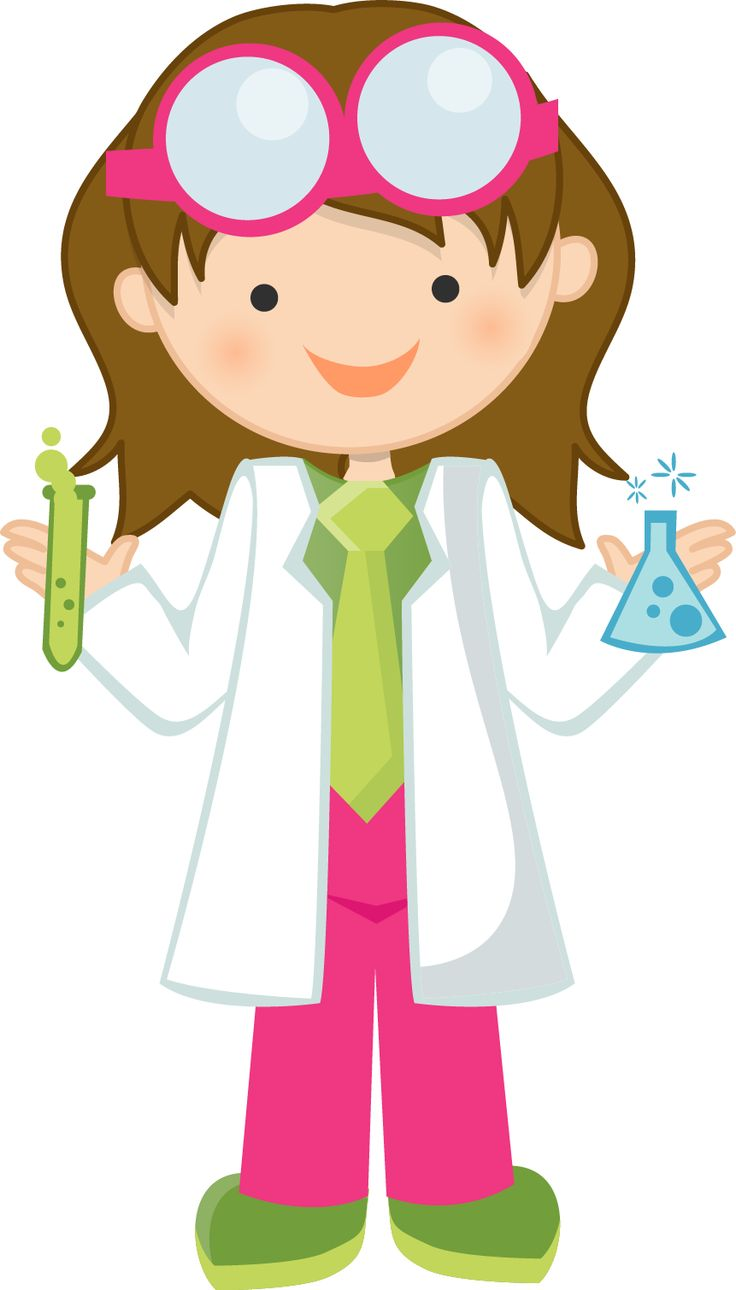 Female Mad Scientist Png - Girl Scientist Clipart