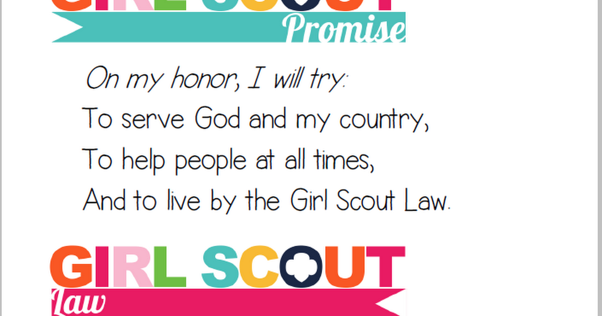 Scout Promise Png - Girl Scout Promise Png & Free Girl Scout Promise.png Transparent ...