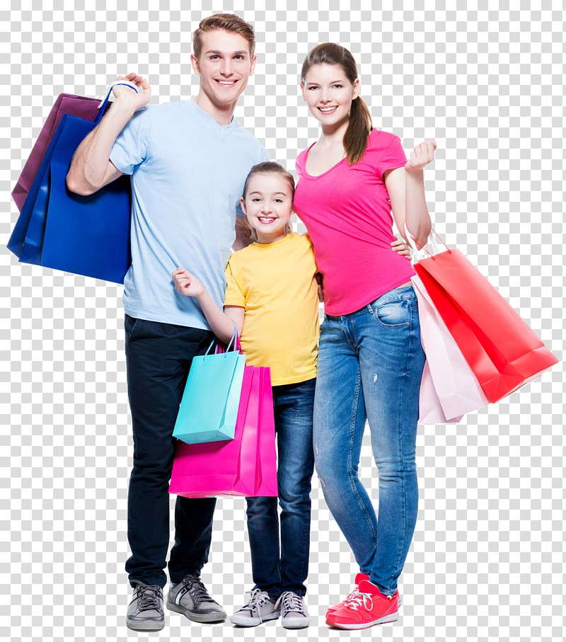 Shopping Family Png - Girl standing between man and woman, Shopping Family Retail ...