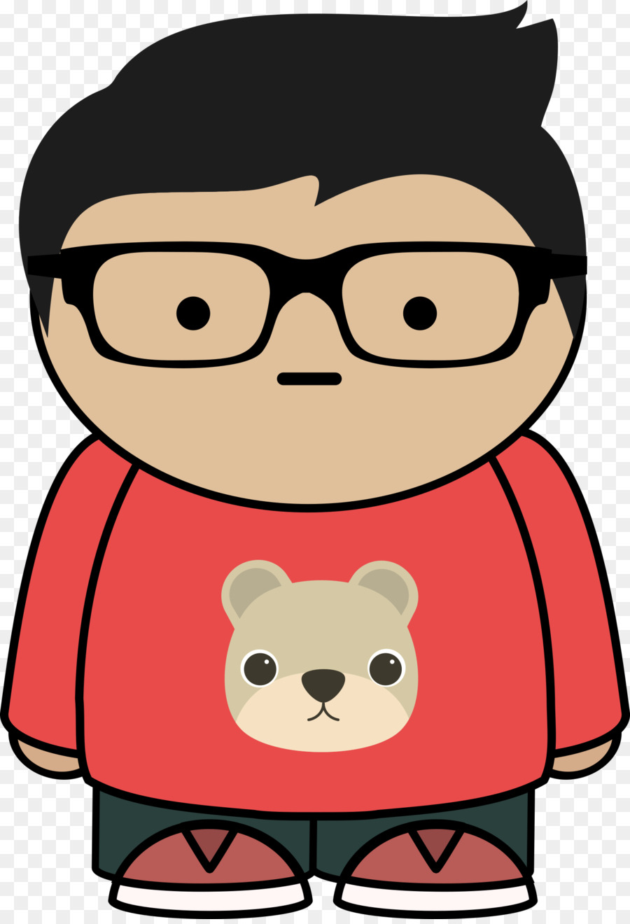 Png Boy With Glasses - Glasses Cartoon Clip art - glasses boy png download - 1645*2400 ...