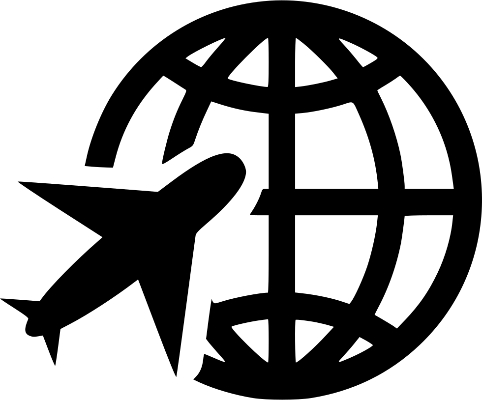 Globe Planet Travel Plane Svg Png Icon F #1505326 - PNG Images - PNGio