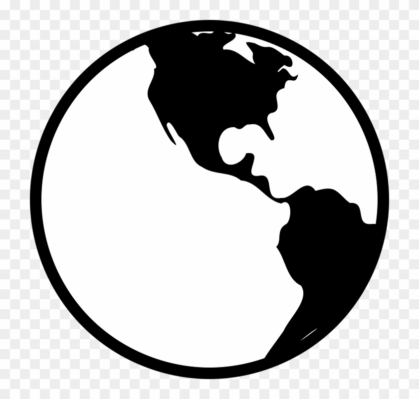 a8a927c45d Png Earth Black And White   Transparent Images  8020 - PNGio