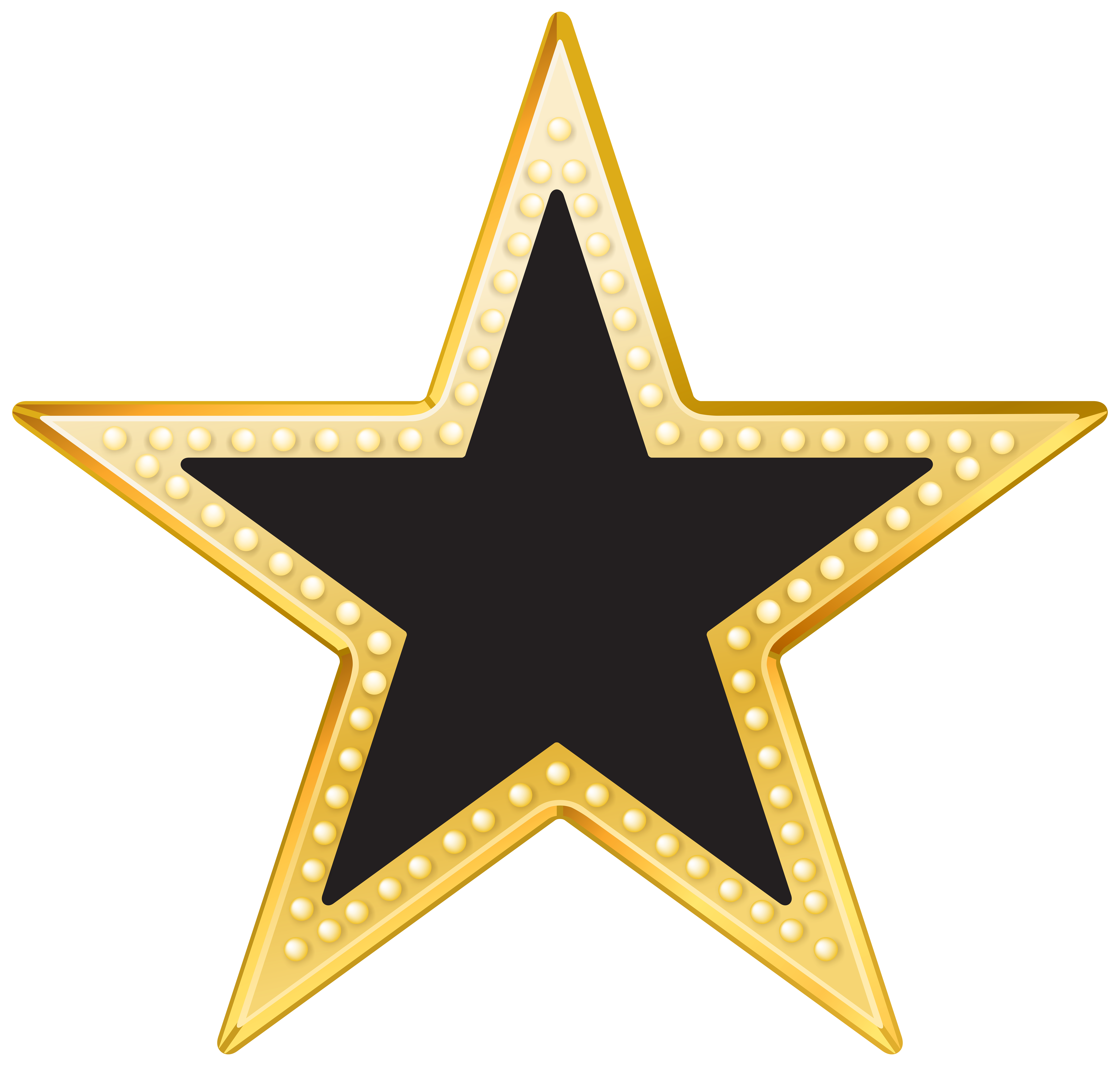 Black And Gold Hd Png - Gold and Black Star PNG Transparent Clip Art Image | Gallery ...