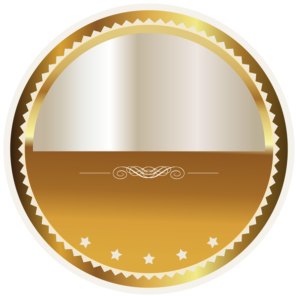 White Png Label With No Background - Gold and White Seal Badge PNG Clipart Picture | Gallery ...