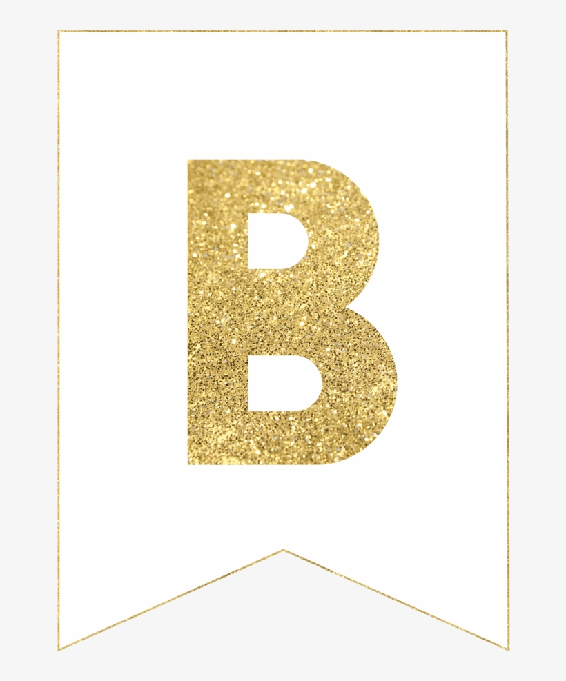 Gold Free Printable Banner Letters Hap 2375612 Png Images Pngio