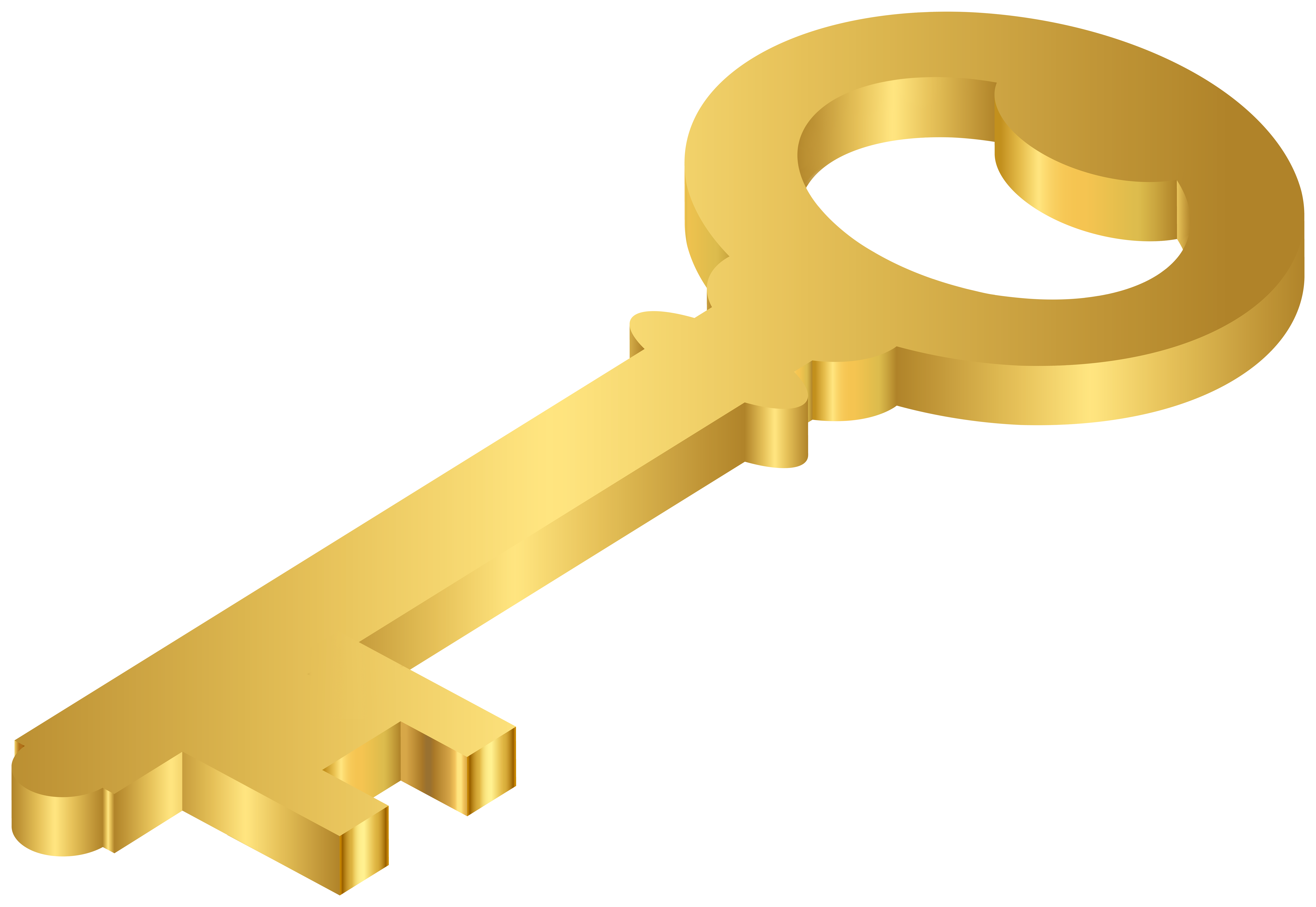 gold keyhole clipart - HD8000×5514