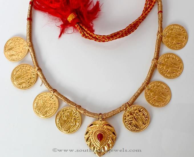 Golden Coin Necklace Png - Gold Maharashtrian Coin Necklace from PNG Adgil Jewellers | Indian ...