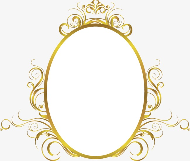 Oval Gold Frame Png Amp Free Oval Gold Frame Png Transparent