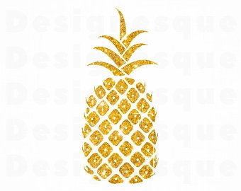 Pineapple glitter. Gold svg sv png