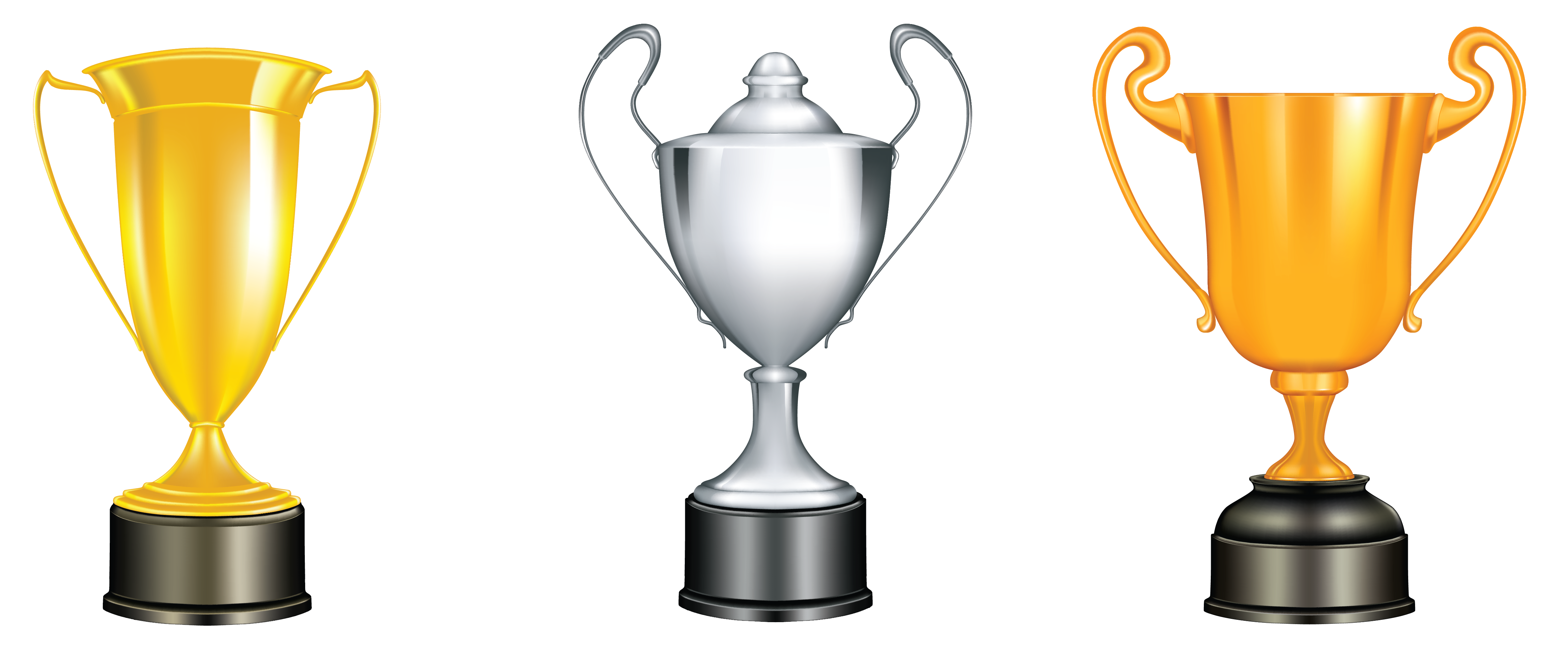 Trophies Png - Gold Silver Bronze Trophies PNG Clipart​ | Gallery Yopriceville ...