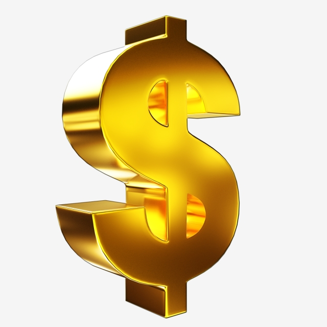 Gold Dollar Sign Png - Golden 3d Dollar Sign, Png, Dollar Sign, Gold PNG and PSD File for ...