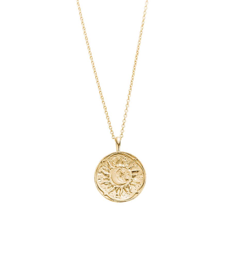 Golden Coin Necklace Png - GOLDEN SUN COIN NECKLACE (18K-GOLD-PLATED) – Kirstin Ash (United ...