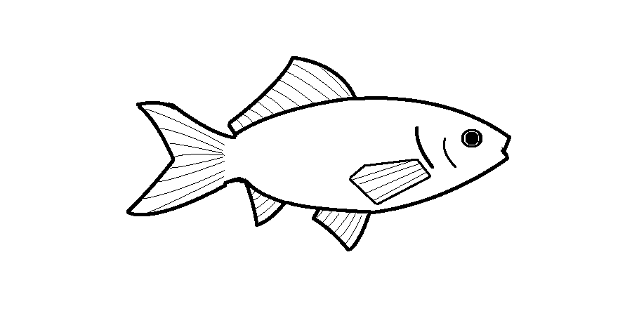 Goldfish Coloring Page Png - Goldfish Coloring Pages