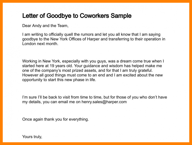 Goodbye Letter To Staff from img.pngio.com