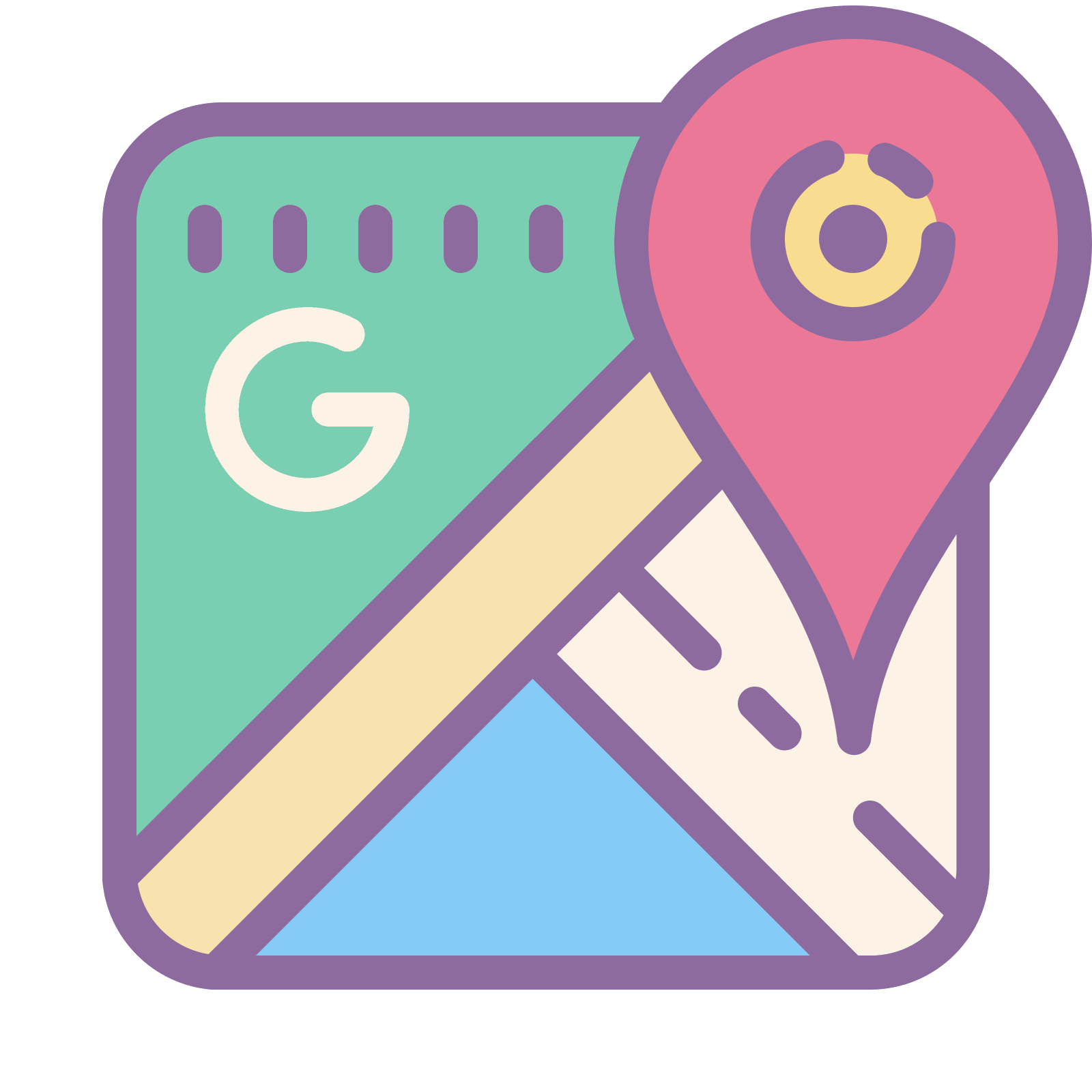 Google Maps Icon Free PNG And SVG Downlo #300763 - PNG