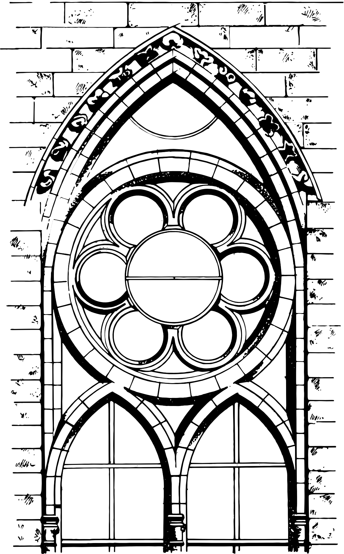 Cathedral Window Png - Gothic cathedral window, drawing free image