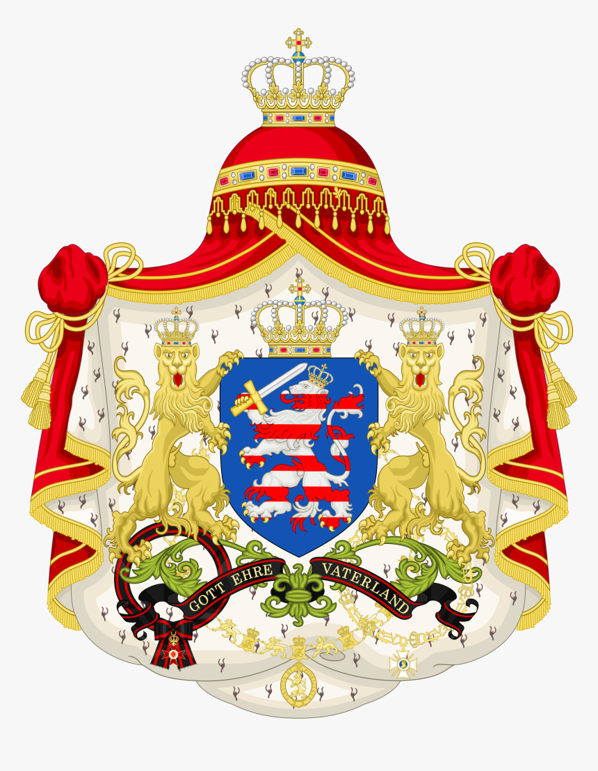 Coat Of Arms Of Hesse Png - Grand Duchess Of Hesse Coat Of Arms, HD Png Download - kindpng