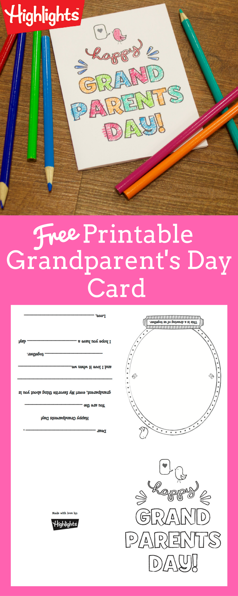 Grandmas Day Png Card - Grandparent's Day Card | Printables | Grandparents day cards ...