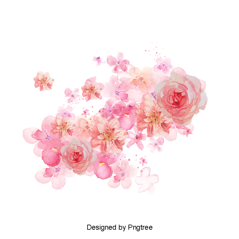 Png Tree With White And Pink Flowers - Graphic Design PNG, Vectors and PSD Files for Free Download