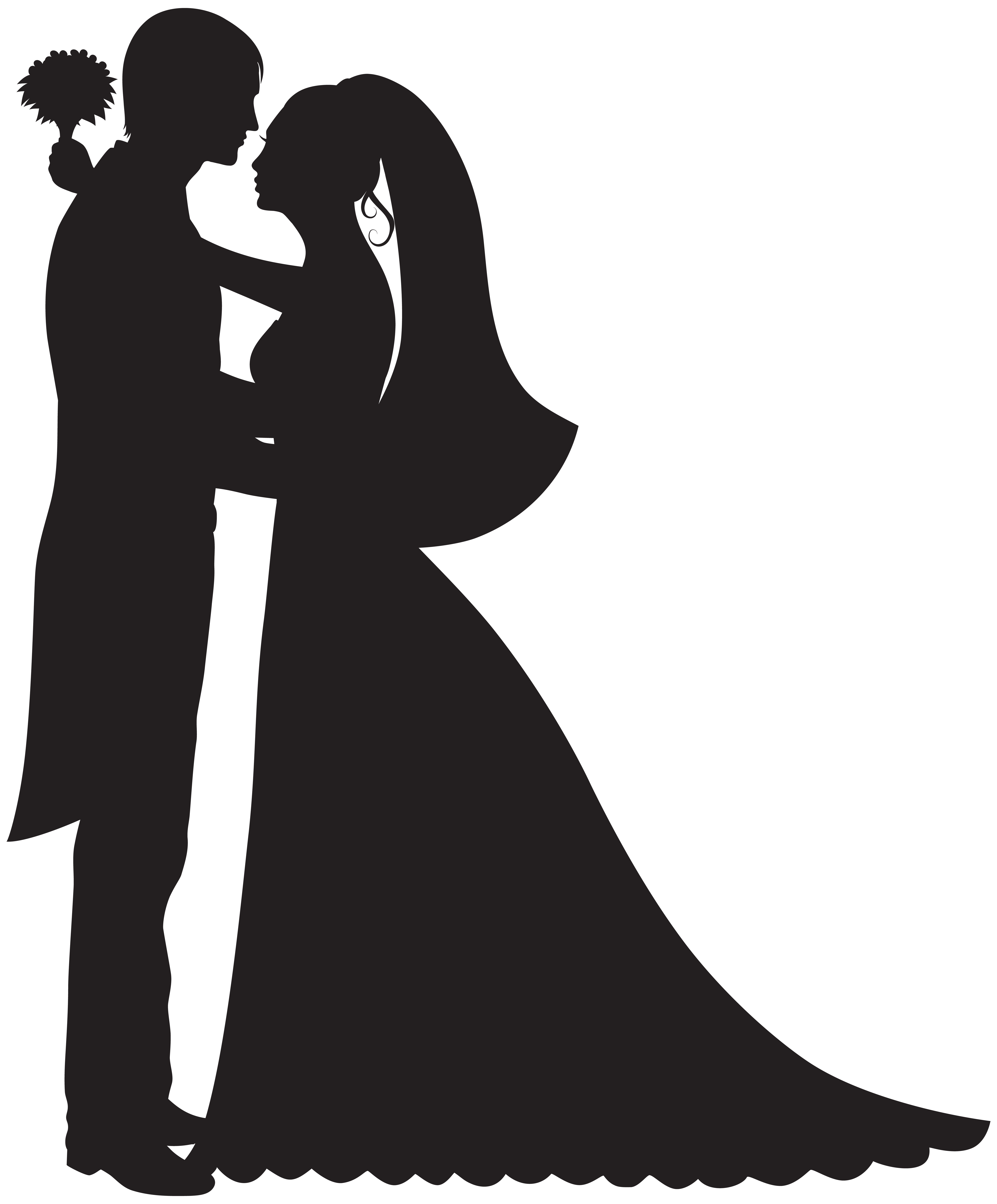 Png Wedding Black And White - graphic library stock Groom and bride png clip art best