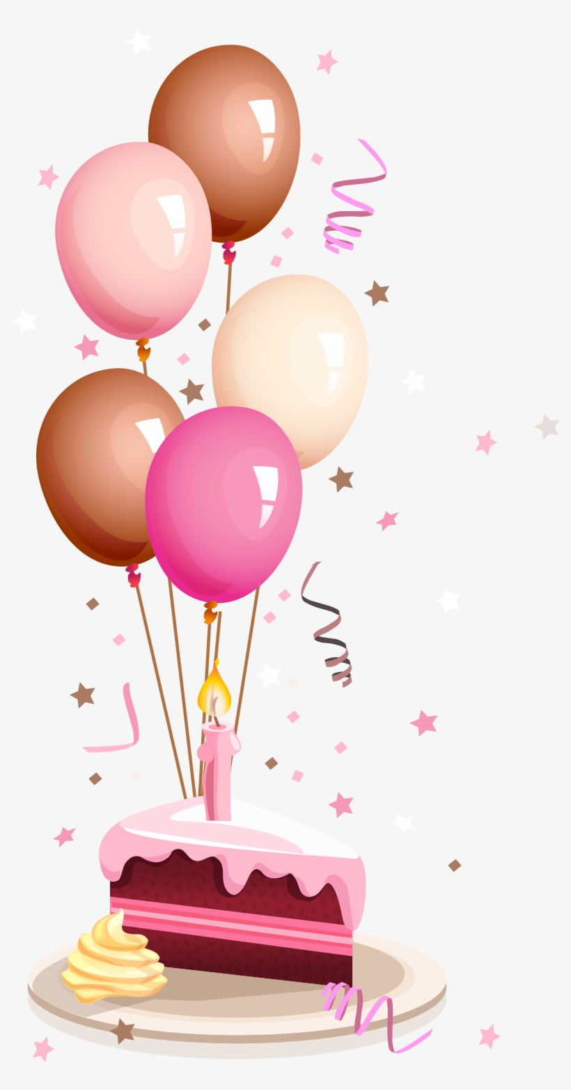 Happy Birthday Balloons Card Png - Graphic Royalty Free Download Baloon Vector Cake Balloon - Card ...