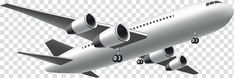 Flights Png - Gray and white airplane , Airplane Boeing 767 Flight, Travel ...