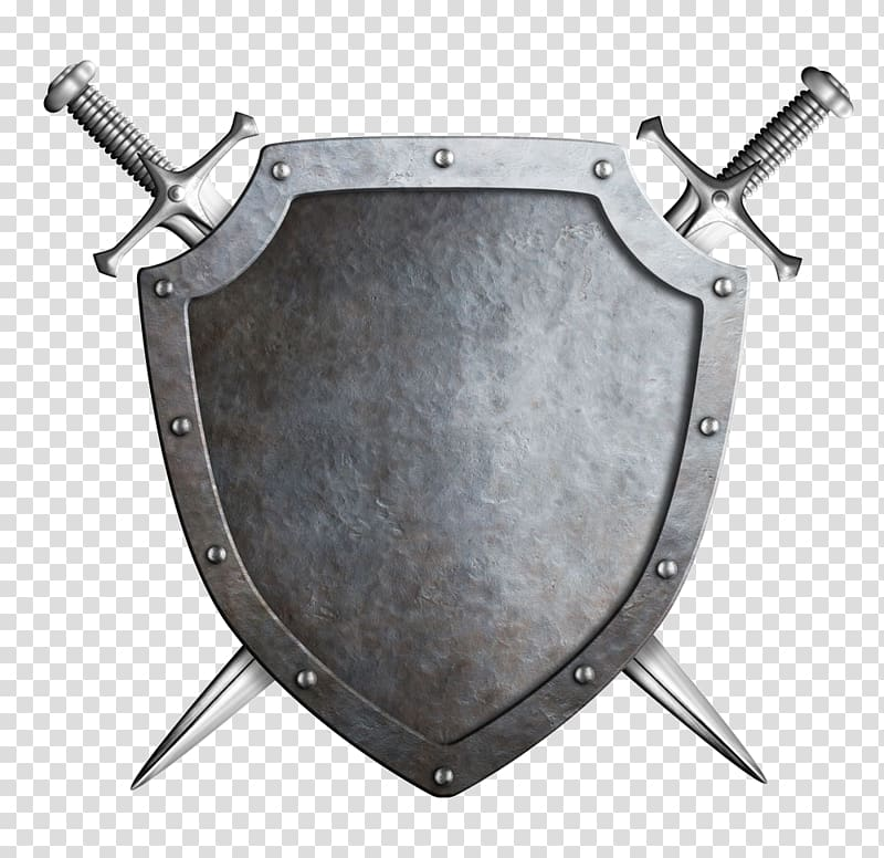 Medieval Shield Png - Gray shield and two swords illustration, Trinic LLC Black Anvil ...