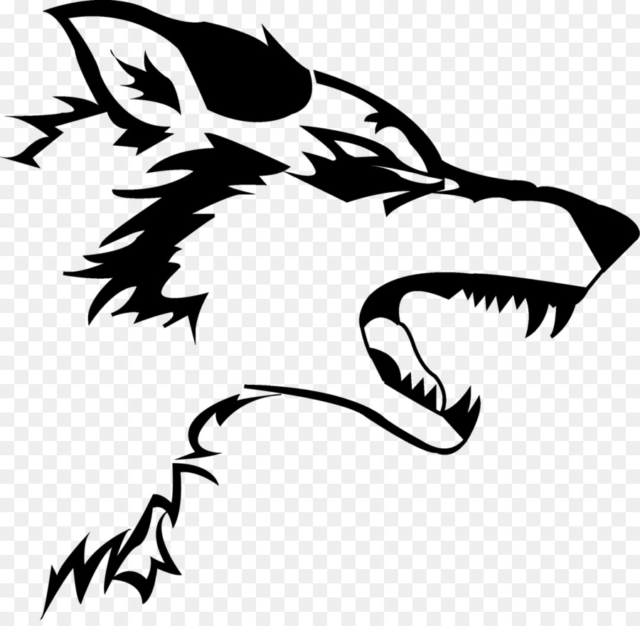 Gray Wolf Decal Logo Black Wolf Sticker #59339 - PNG Images