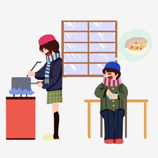 Little Girl Cooking Png - Great Cold Cartoon Character Illustration Beautiful Little Girl ...