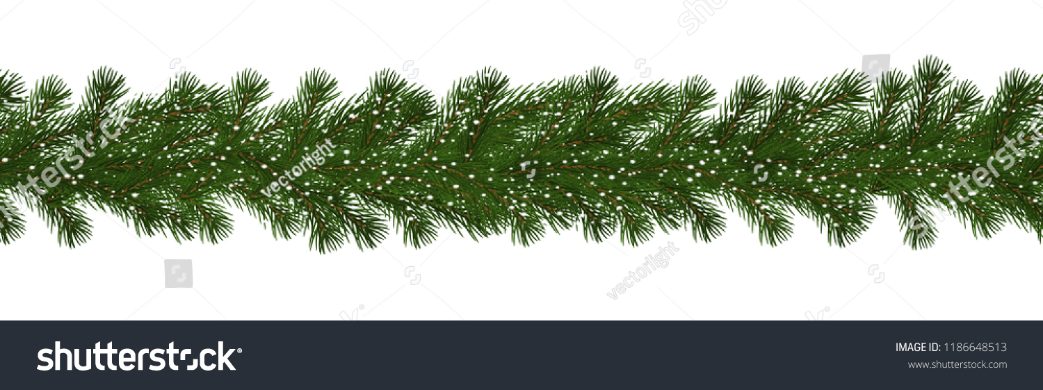 Christmas Branch Png.Green Christmas Border Pine Branch Snow 189569 Png Images