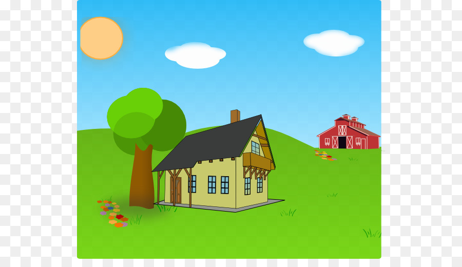 Farm Scene Png - Green Grass Background png download - 600*504 - Free Transparent ...