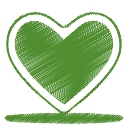 Green Heart Icon Origami Colored Penci Png Images Pngio