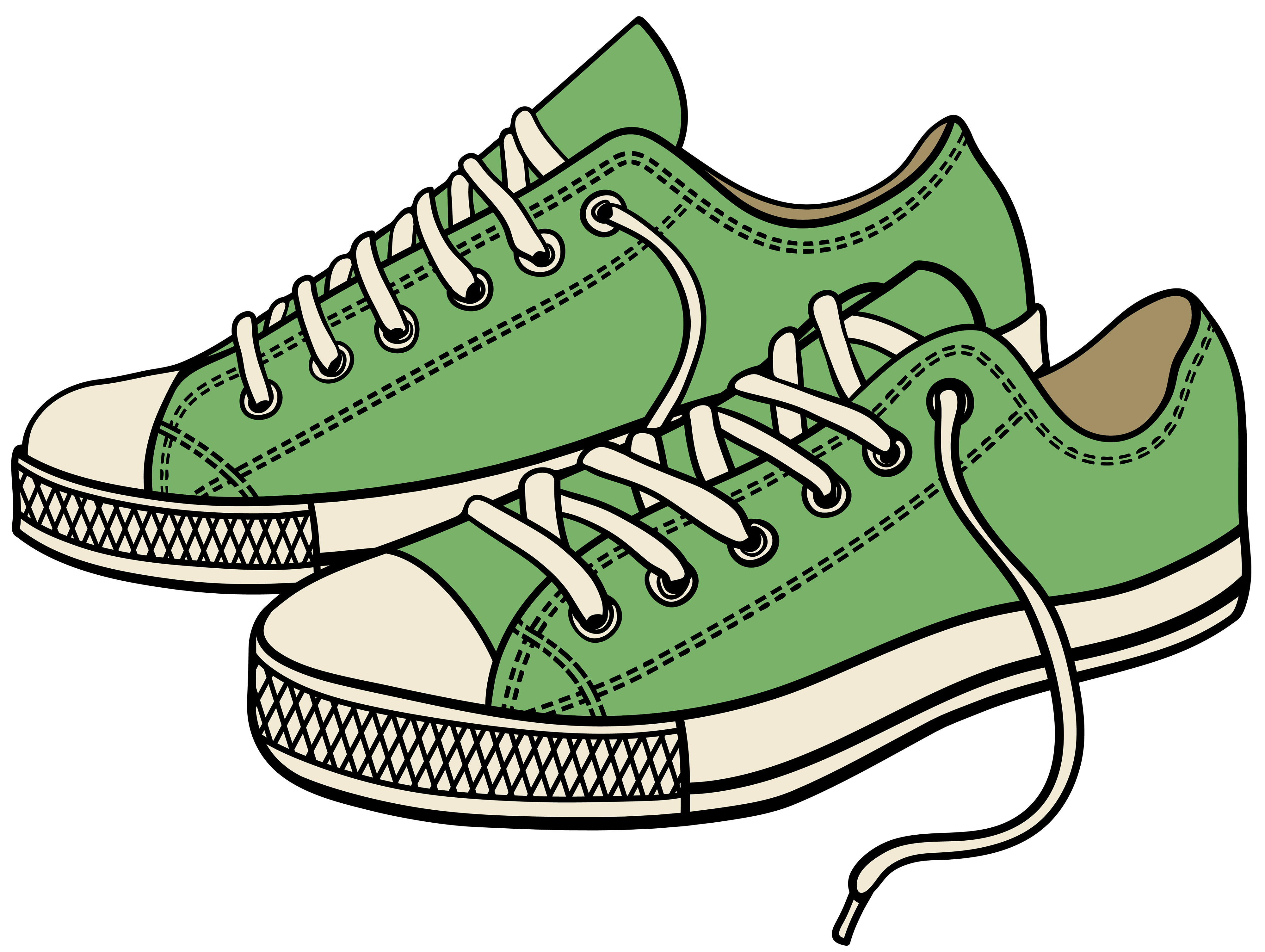Shoes Clipart Png - Green Sneakers PNG Clipart - Best WEB Clipart