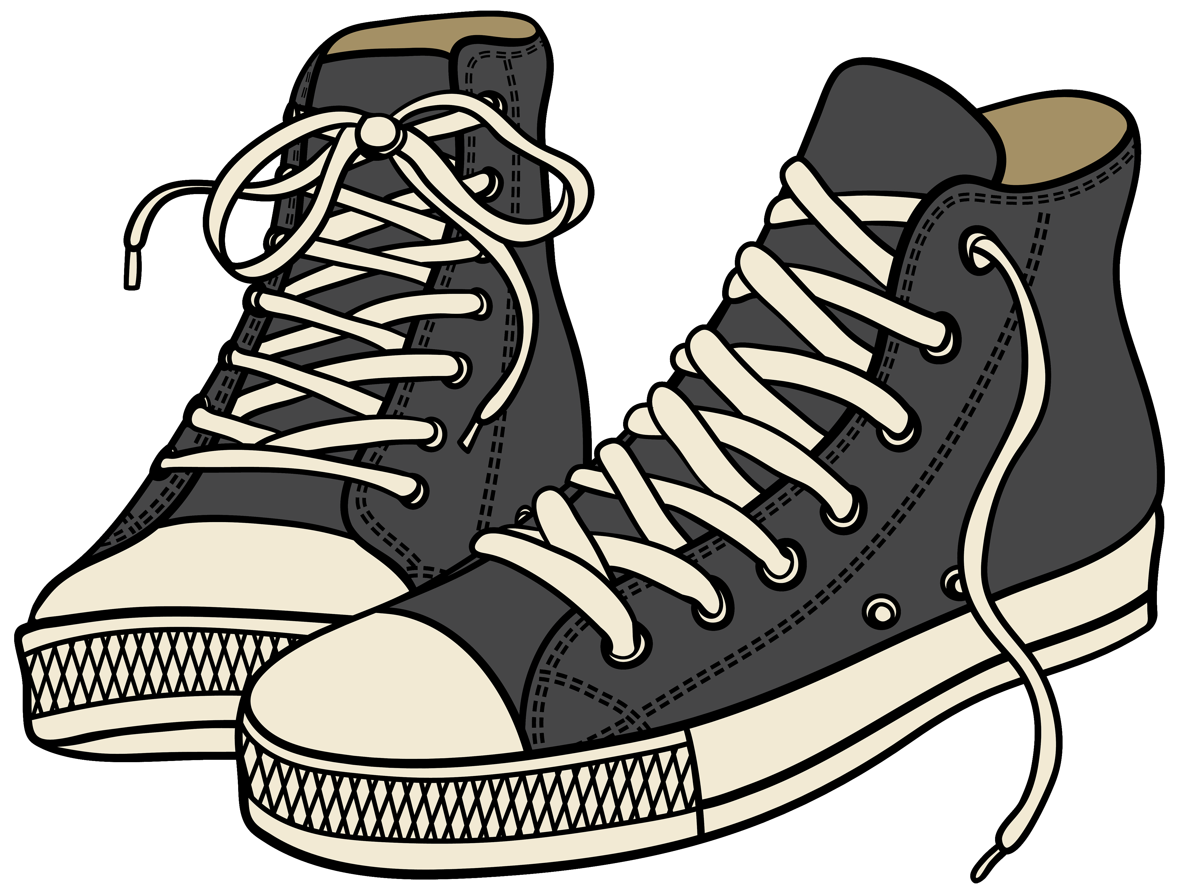 Shoes Clipart Png - Grey High Sneakers PNG Clipart - Best WEB Clipart