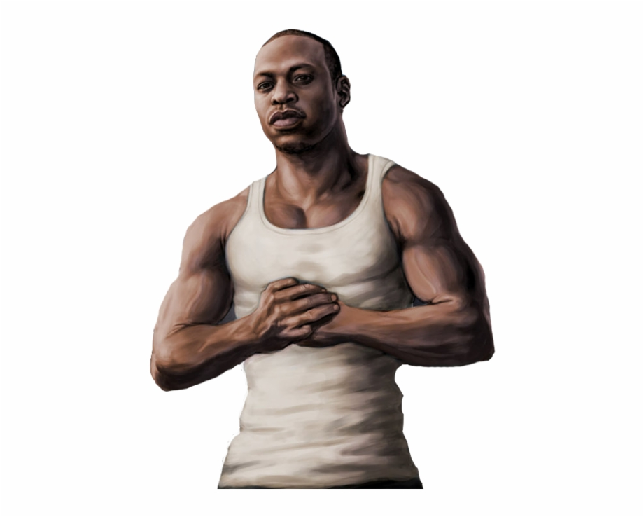Cj Png - Gta V Cj Greetings From San Andreas By Speetix-d5k67j0 - Gta San ...