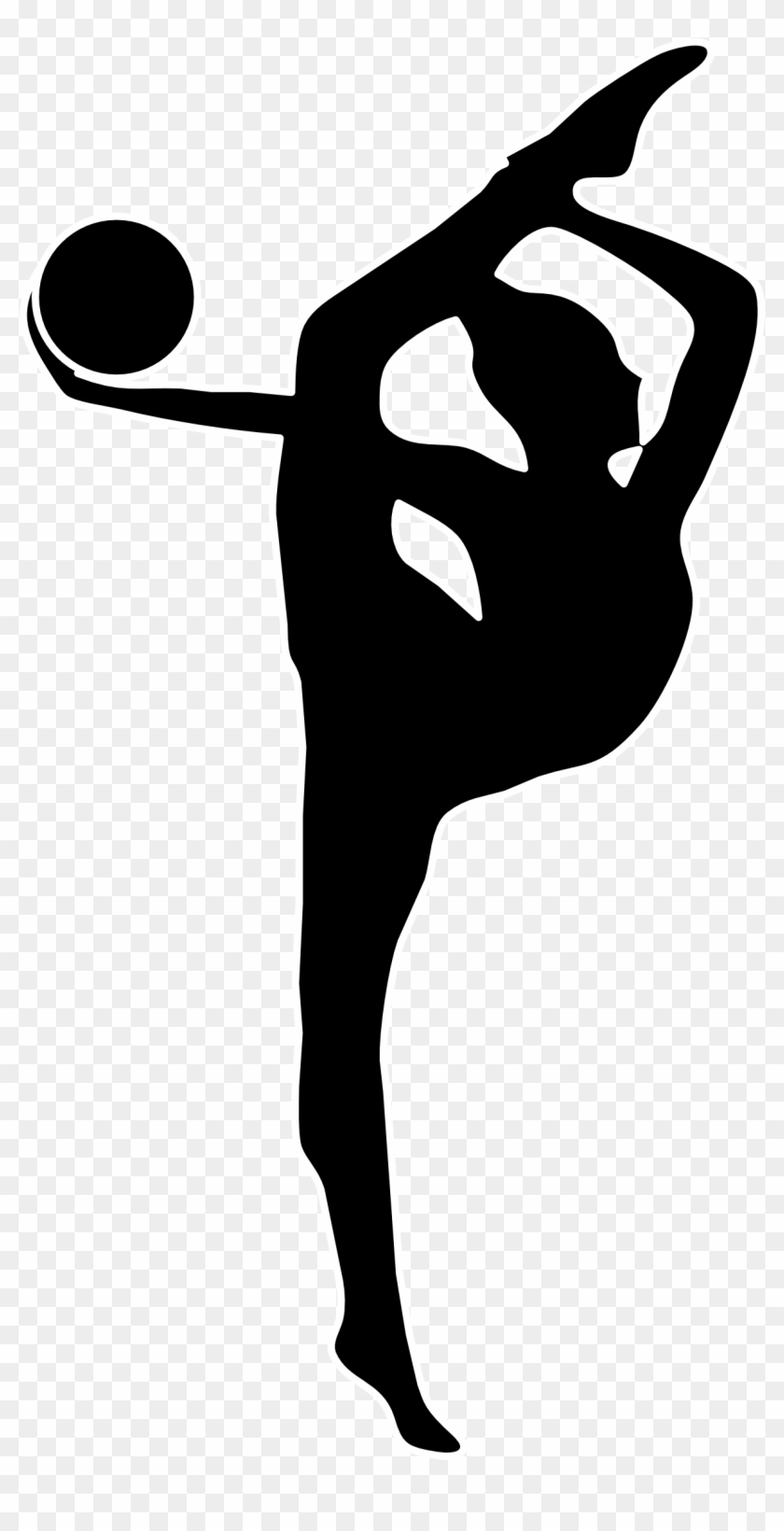 gymnastics clipart sil 77280 png images pngio