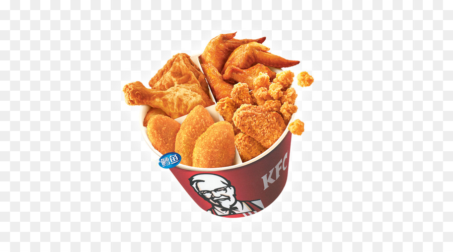 Bucket Of Fried Chicken Png - Hamburger KFC Fast food French fries Fried chicken - Family bucket
