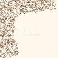 Henna Doodles Png - Hand Drawn Henna Doodle Stock Vector