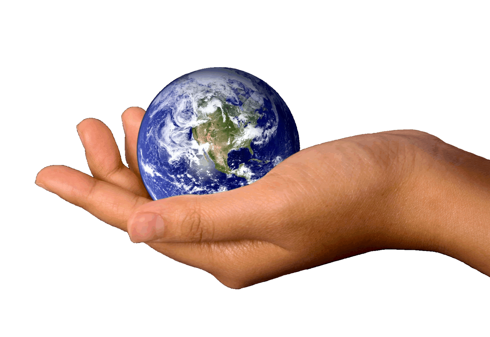 World In Hands Png - Hand Holding Earth transparent PNG - StickPNG