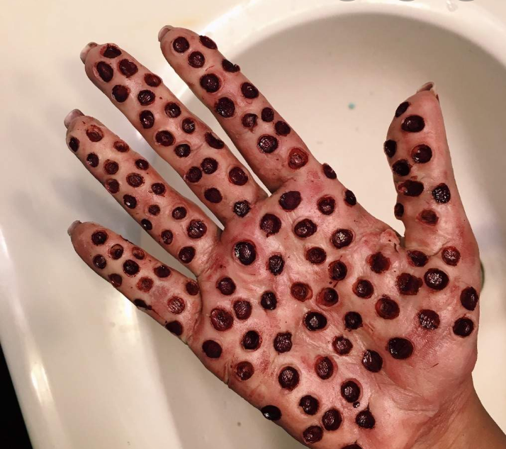Hand Makeup Trypophobia 2821292 Png Images Pngio