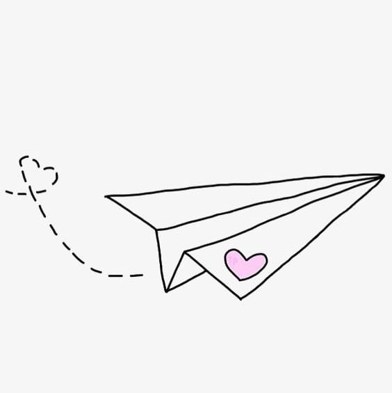 Hand Painted Paper Airplane Png Clipart 1425460 Png Images Pngio