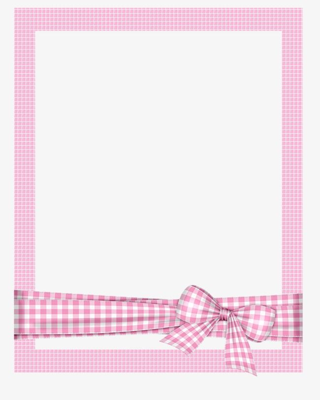 Plaid Frame Png - Hand Painted Picture Frame Cartoon Picture Frame Pink Plaid Photo ...