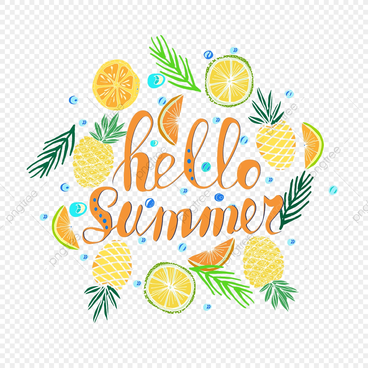 Hello Summer Png - Hand Written Phrase Hello Summer, Png, Tropical Background ...